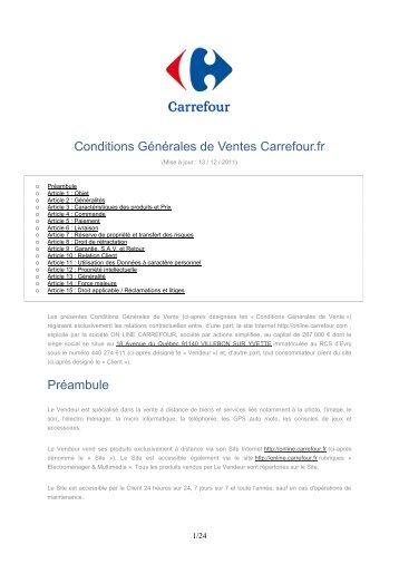 Conditions Générales de Ventes - E-Merchant