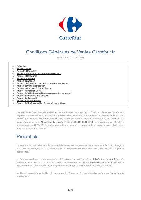 Conditions Gãnãrales De Ventes E Merchant