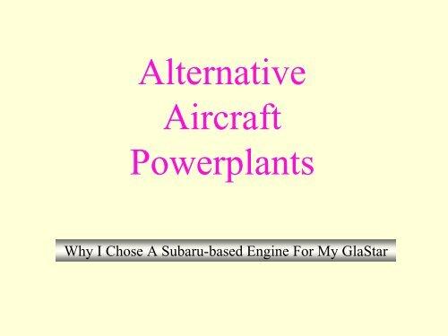 Alternative Aircraft Powerplants