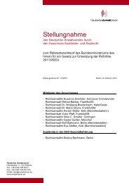 Stellungnahme Nr.: 10/2013 - Deutscher Anwaltverein