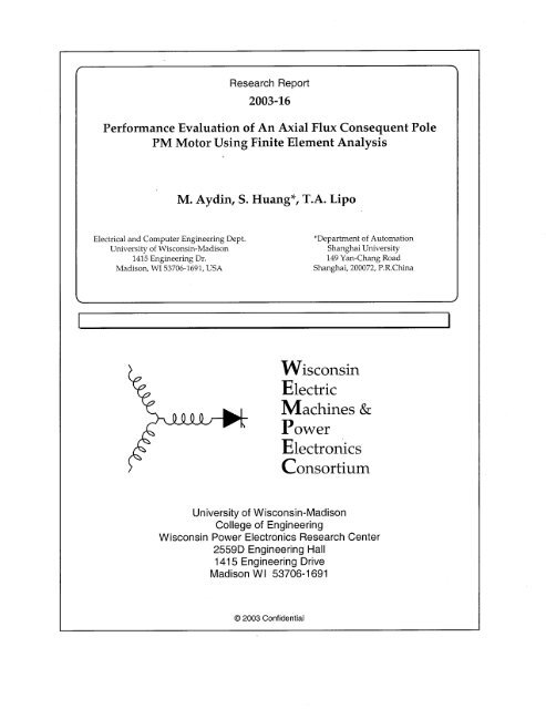 Performance Evaluation of An Axial Flux Consequent