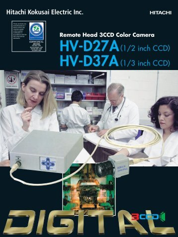HV-D27A 1/2 inch CCD HV-D37A 1/3 inch CCD