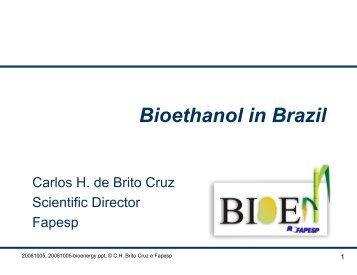 Bioethanol in Brazil - APEC Biofuels