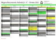 Kalender Aulendorf 2seitig - Bürgerschützenverein Aulendorf eV