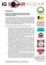 Offenen Brief an das BMVBS zur Kenntnisnahme durch die ...