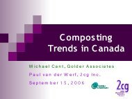 Composting Trends in Canada - Compost Council of Canada