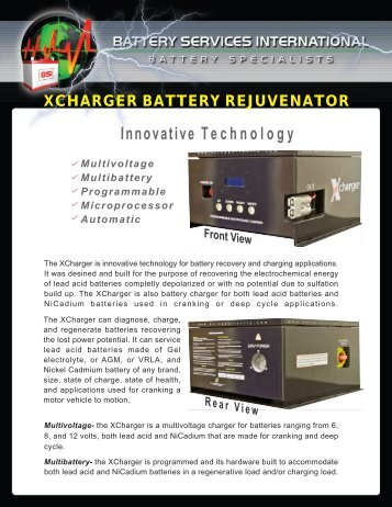 XCHARGER BROCHURE.pdf - Battery Services International