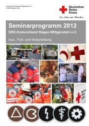 Seminarprogramm 2012 - DRK-Kreisverband Siegen-Wittgenstein