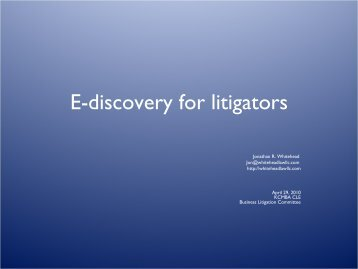 A .pdf file containing my slides is located here - Law Offices of ...