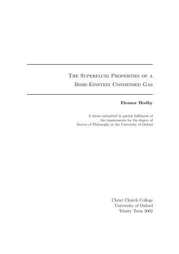 The superfluid properties of a Bose-Einstein Condensed Gas (2002)