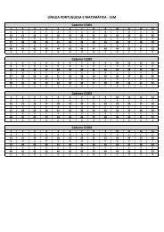 Avaliação Semestral Ensino Médio – 1° Semestre 2013