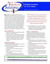 Handling Procedures for 1/4 cc Straws - Select Sires, Inc.