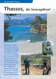Thassos, die Smaragdinsel – - SKR Reisen