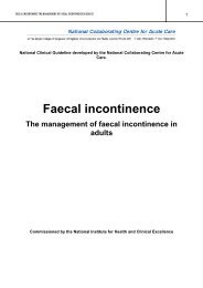 Faecal incontinence - National Institute for Health and Clinical ...