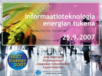 Informaatioteknologia energian tukena