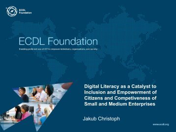 Digital Literacy as a Catalyst to Inclusion and Empowerment ... - LIKTA