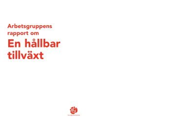 02 Grın Tillv−xt - rapport - Socialdemokraterna