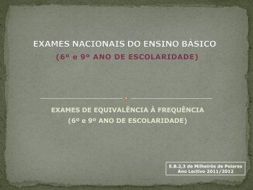 EXAMES NACIONAIS DO ENSINO BÁSICO - Agrupamento de ...