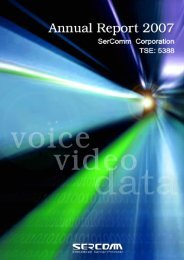 Business Overview - Sercomm Corporation