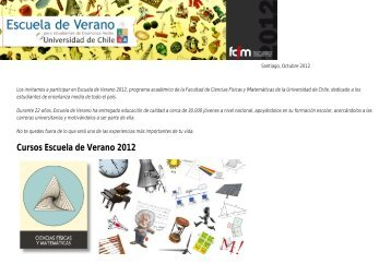 Resumen Cursos 2012 - EXPLORA CONICYT RM