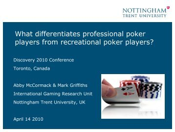 What differentiates professional poker players from recreational ...