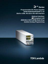 Z+ 2U Programmable Bench or Rack Mount Power Supply Brochure