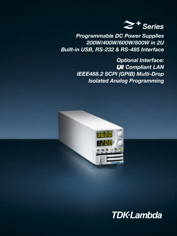 Z+ 2U Programmable Bench or Rack Mount Power Supply Brochure