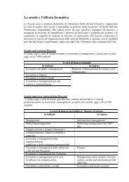 Le scuole e l'offerta formativa - Università Bocconi