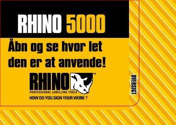 Kvikvejledning til RHINO 5000 - DYMO