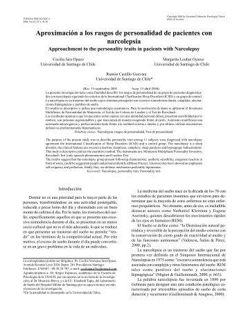 Texto completo PDF - Terapia Psicológica