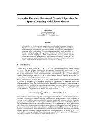 Adaptive Forward-Backward Greedy Algorithm for Sparse Learning ...