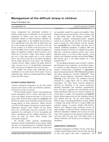 Management of the difficult airway in children - Ether