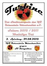 Stadionmagazin 02/2010 Turbine - SV Burgalben - VfB Rotenstein ...