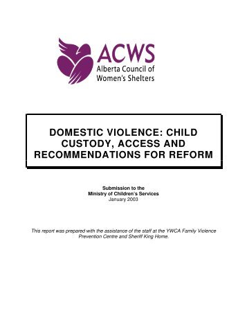 domestic violence: child custody, access and recommendations