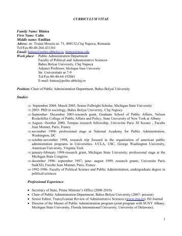 Carieră profesională - Colegiul Fizicienilor Medicali din România (CFMR)