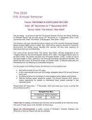 The 2010 FAI Annual Seminar - The Fertiliser Association Of India