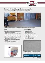 Emcoril S – die flüssige Bautenschutzfolie