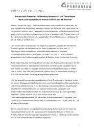 Eröffnung der Lehrlogopädischen Praxis Theralingua - Hochschule ...