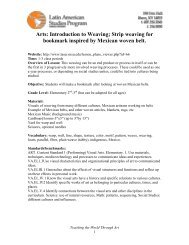 Arts: Introduction to Weaving; Strip weaving for bookmark inspired ...