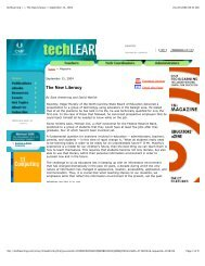 Techlearning > > The New Literacy > September 15, 2004