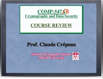 COURSE REVIEW (11 Apr 2013) (Pdf format) - McGill University