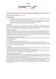 Allgemeine Geschäftsbedingungen (gültig ab 01/2004) - PRS3 GmbH