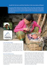 Health for farmers and their families in the mountains of ... - Ecohimal