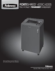 FORTISHREDTM 4250C/4250S 50C/4250S - Fellowes Shredder