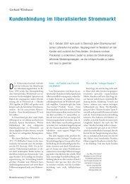 Kundenbindung im liberalisierten Strommarkt - Reihe1