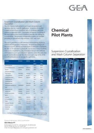 Chemical Pilot Plants - GEA Messo PT