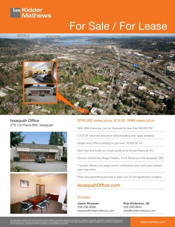 For Sale / For Lease