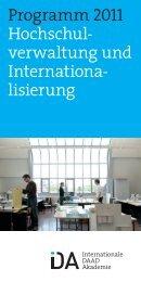 Programm 2011 Hochschul verwaltung und Internationa lisierung