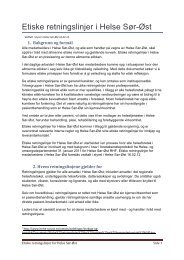 Etiske retningslinjer i Helse Sør-Øst