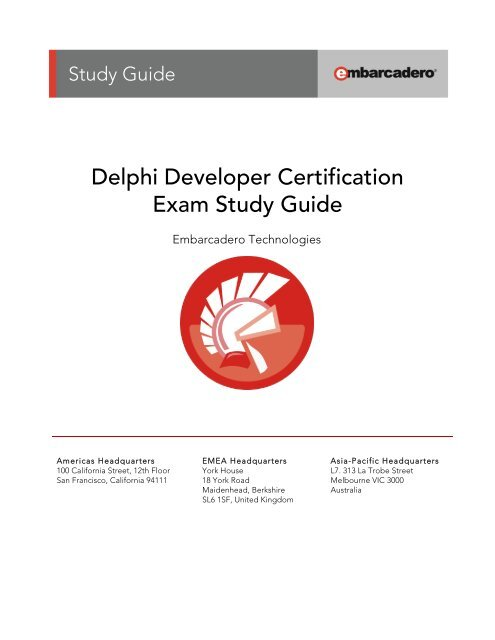 Delphi Developer Certification Exam Study Guide - Embarcadero